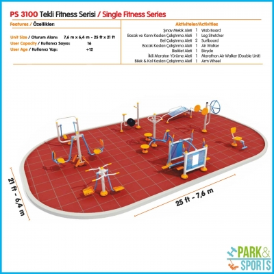 AP.3100 - Outdoor Fitness Equipment (Single series)